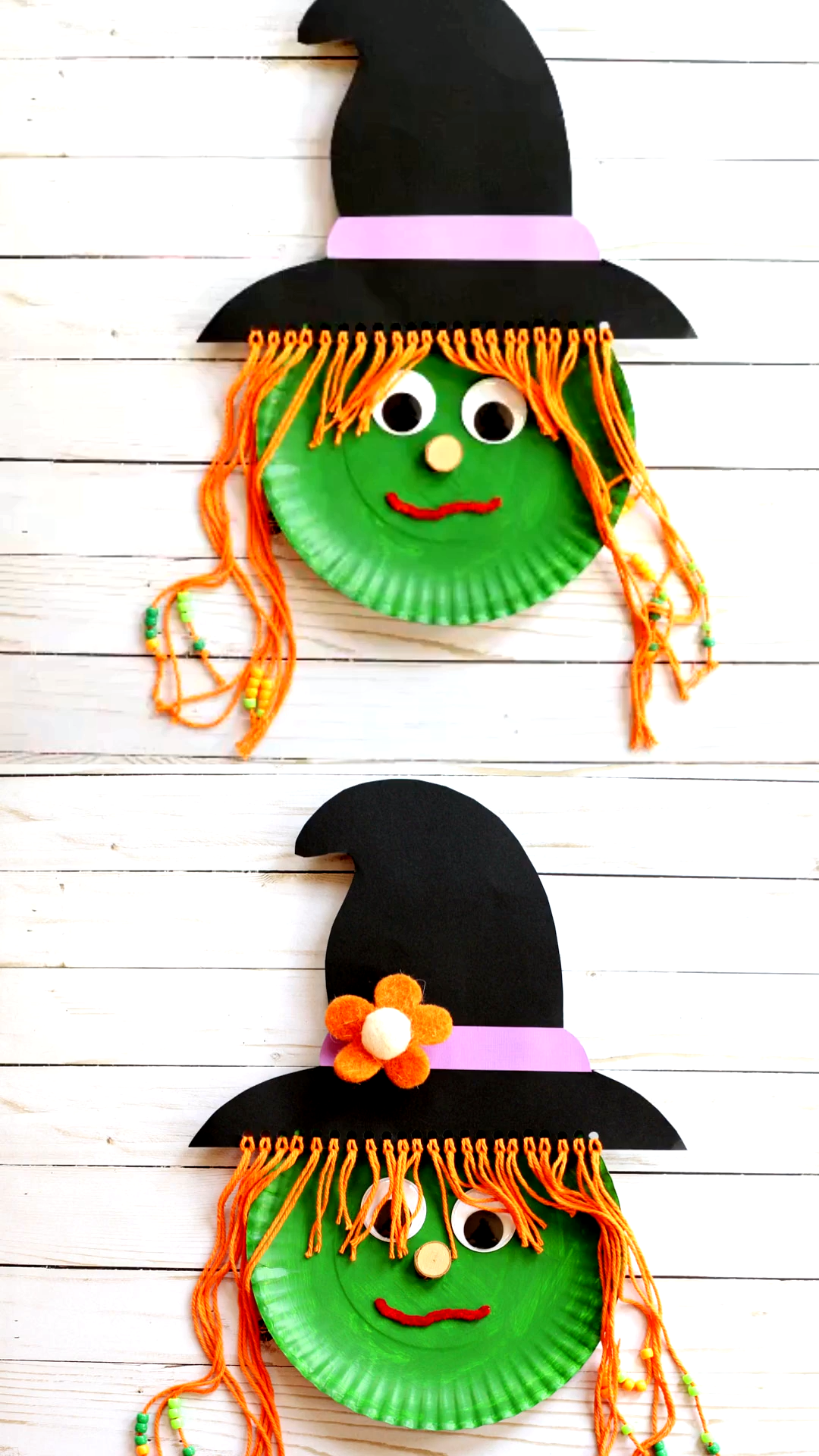 Paper Plate Witch Craft For Kids In