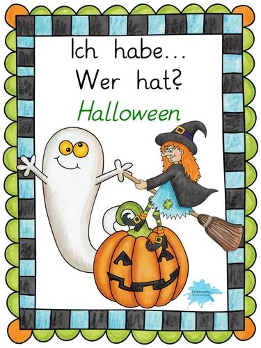 """Halloween """"Ich habe... Wer hat?"""" Unterrichtsmaterial in"""