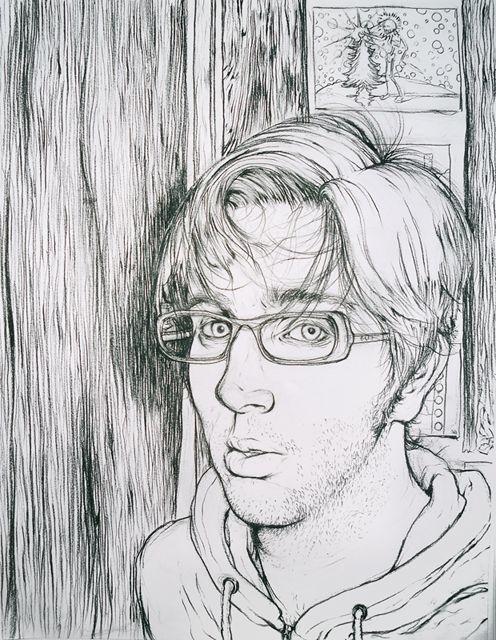 Contour Line Drawing Self Portrait : Contour self portrait by anthonyfoti on deviantart star