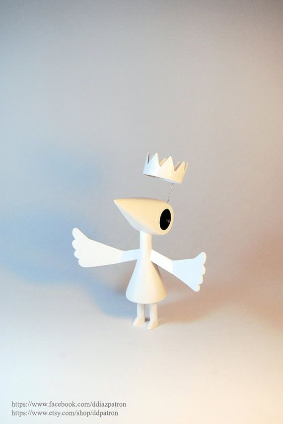 Crow Ida with wings. Monument Valley Game.