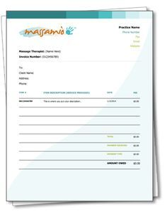 A Free Massagetherapy Receipt And Invoice Template As Easy As Download Customize And Print Massage Therapy Reflexology Massage Massage Therapist