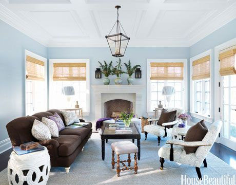 These 50 Designer Living Rooms Are Absolute Goals Blue Living Room Living Room Paint Brown Living Room