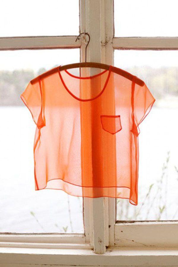 Color Naranja Orange Cor Laranja Cores E Blusa Transparente