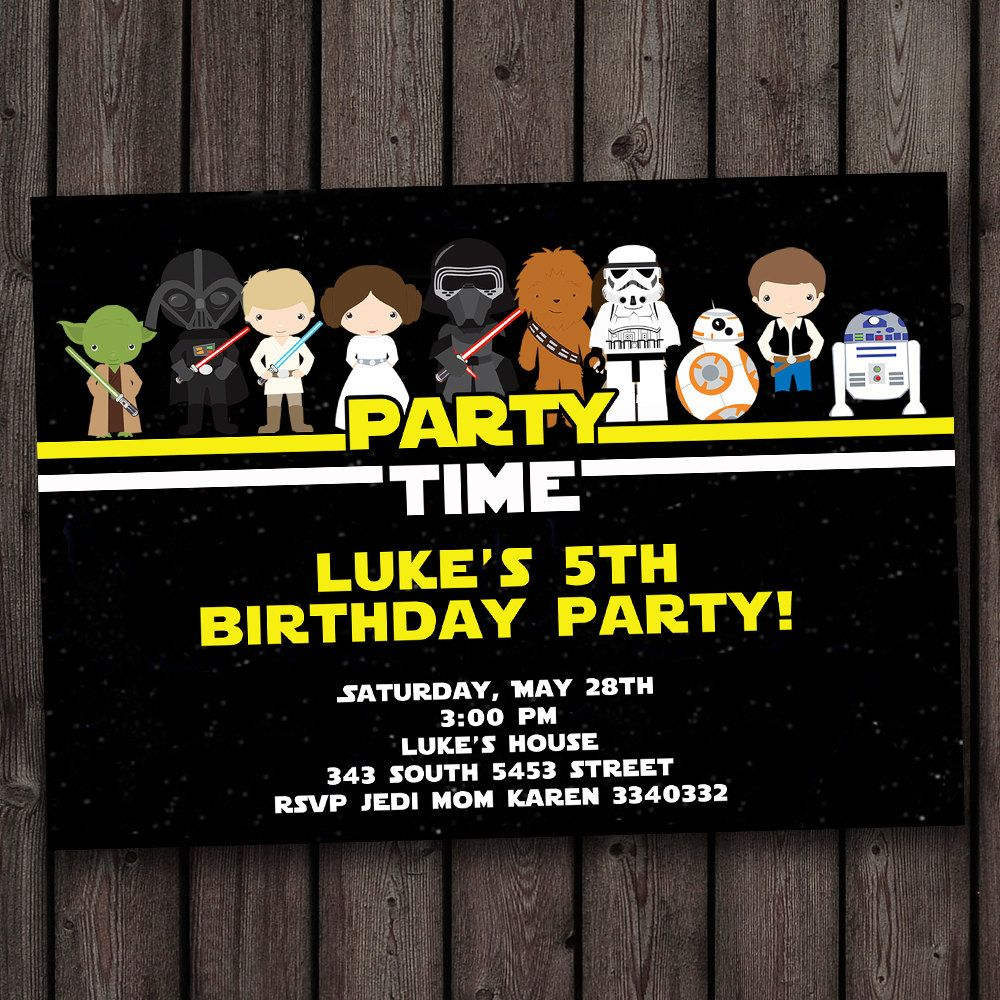 Download Now FREE Star Wars Birthday Invitations FREE Printable