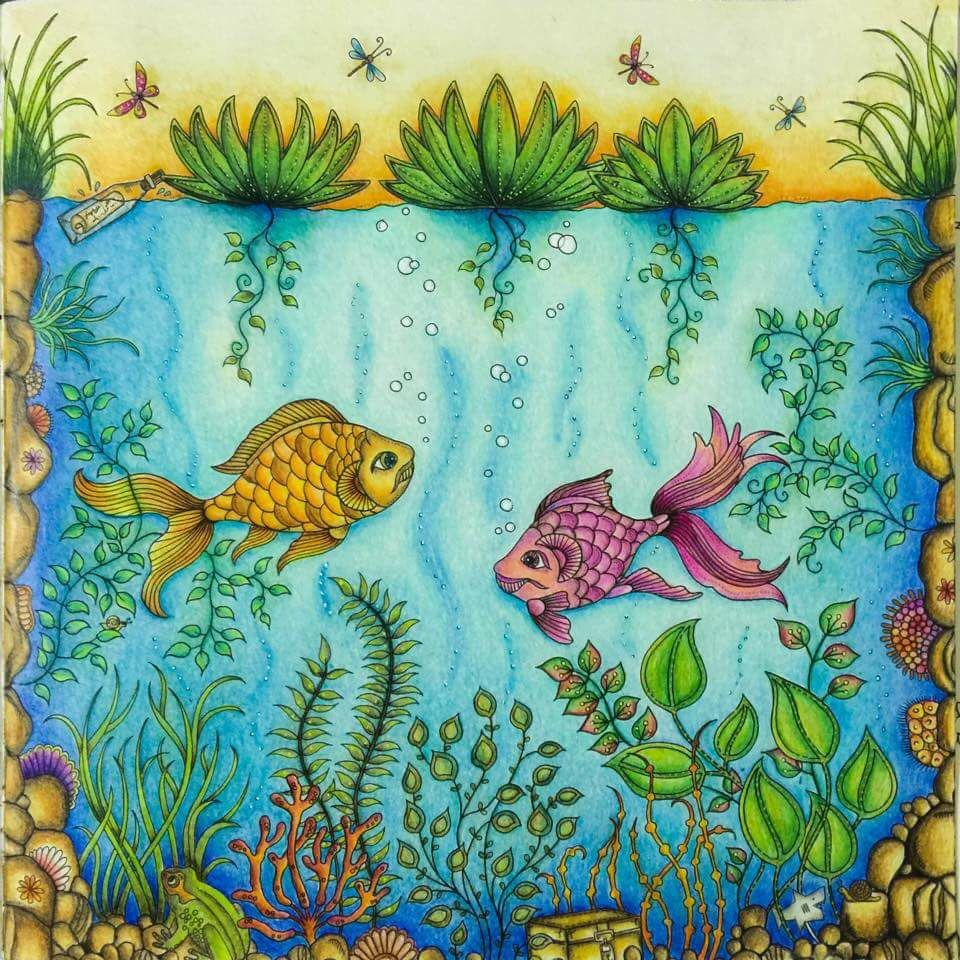 The secret garden coloring book review - Fish Secret Garden By Ale Bavaresco