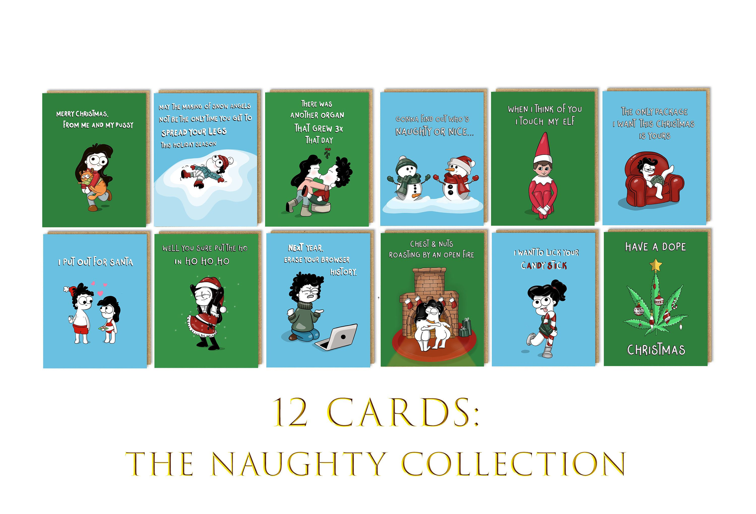 Funny Set of Christmas Cards Funny Holiday Card Box Set Christmas Card Pack