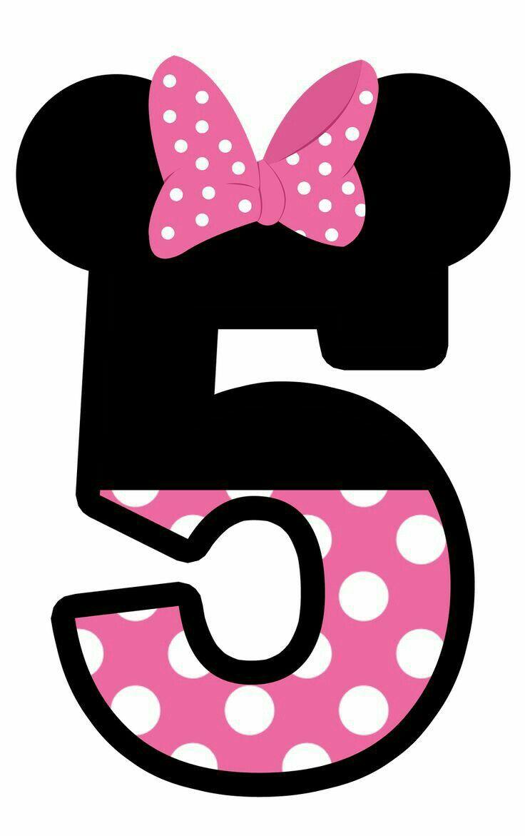 Numero 5 cumplea os minnie mouse mo o rosita blanco y - Cumpleanos minnie mouse ...