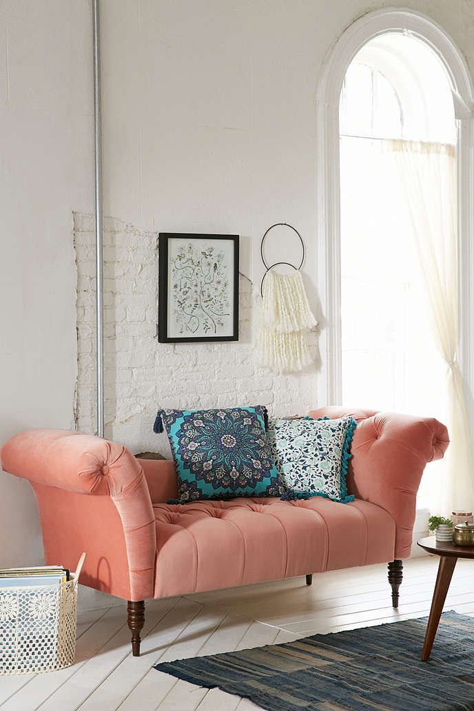 Antoinette Fainting Sofa - Coral | Spaces, Dorm and Entry foyer