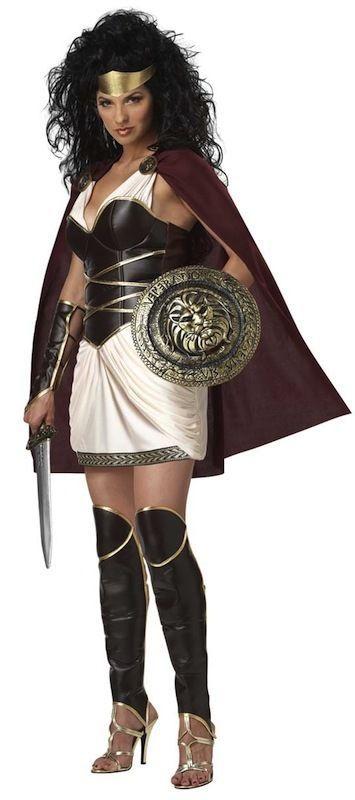 Roman Spartan Princess Queen Xena Warrior Gladiator Womens Fancy Dress Costume