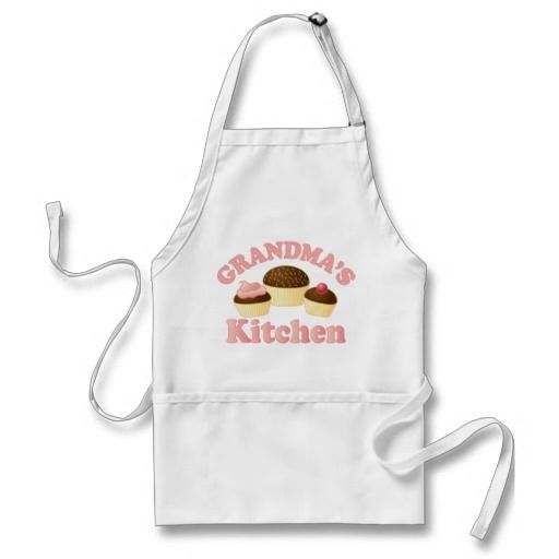 Cupcake Kitchen Apron For Grandma