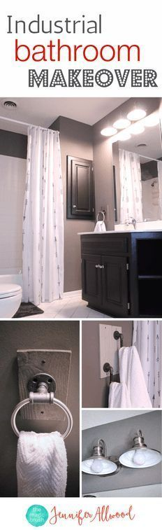 How to's : Industrial Boys Bathroom Makeover | Boys Bathroom Ideas | How to update your bathroom | Bathroom Decor Ideas by Magic Brush #bathroom #makeover #homedecor #diy #diyhomedecor #bathroommakeover