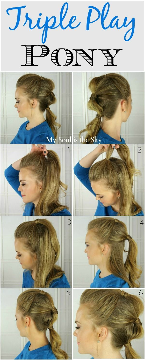 Three tiered ponytail hairstyle hair pinterest ponytail