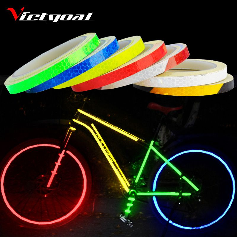 Victgoal Bike Stickers Decals Reflective Stickers Strip Bicycle