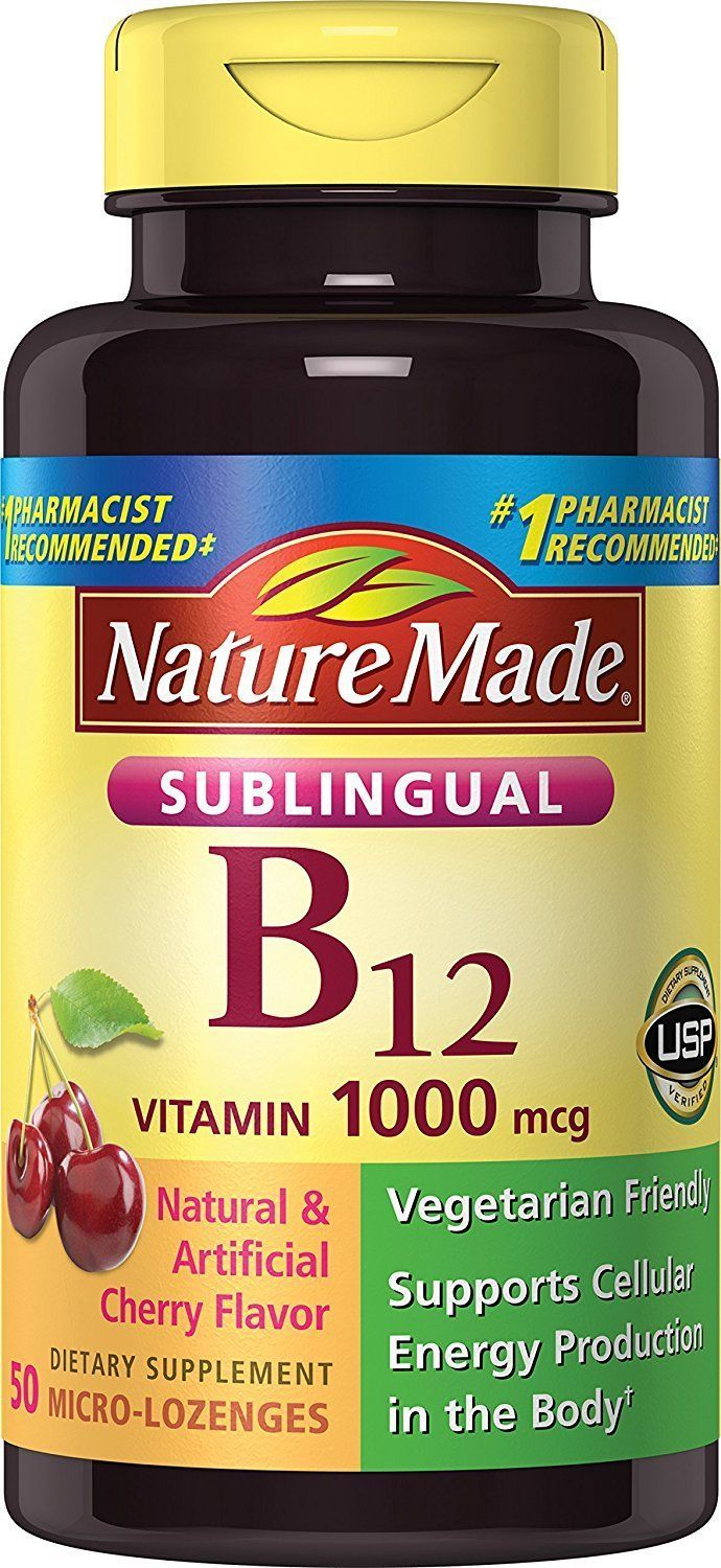 Foods Vitamin B 50 Nature Made Vitamin B 12 1000 Mcg Sublingual 50 Count Products