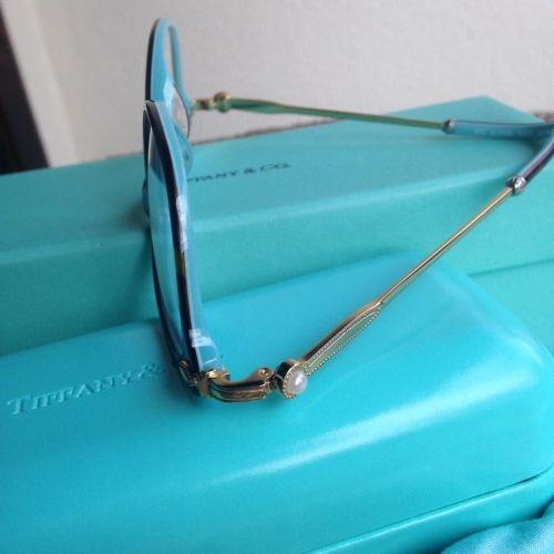 75b036f87 Óculos de Grau Tiffany e Co. Réplica Perfeita, Turquesa Azul, e Preto Azul