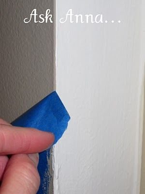 How To Paint A Straight Line Taped Edge W Original Color First Then New Or Caulk Tape