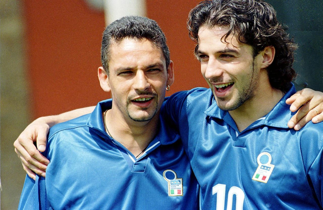 Roberto Baggio e Alessandro Del Piero in nazionale | Numerosette Magazine