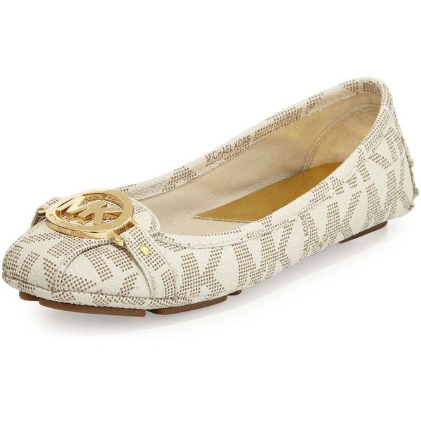 MICHAEL Michael Kors Fulton Logo Moccasin ($99) ❤ liked on Polyvore  featuring shoes,