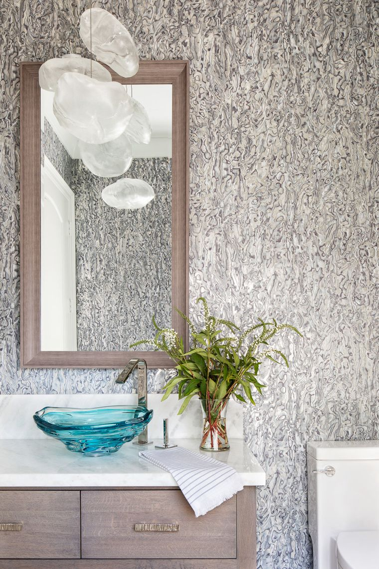 Turquoise Bathrooms Timeless And Captivating Interior: Bathroom, Bathroom Wallpaper