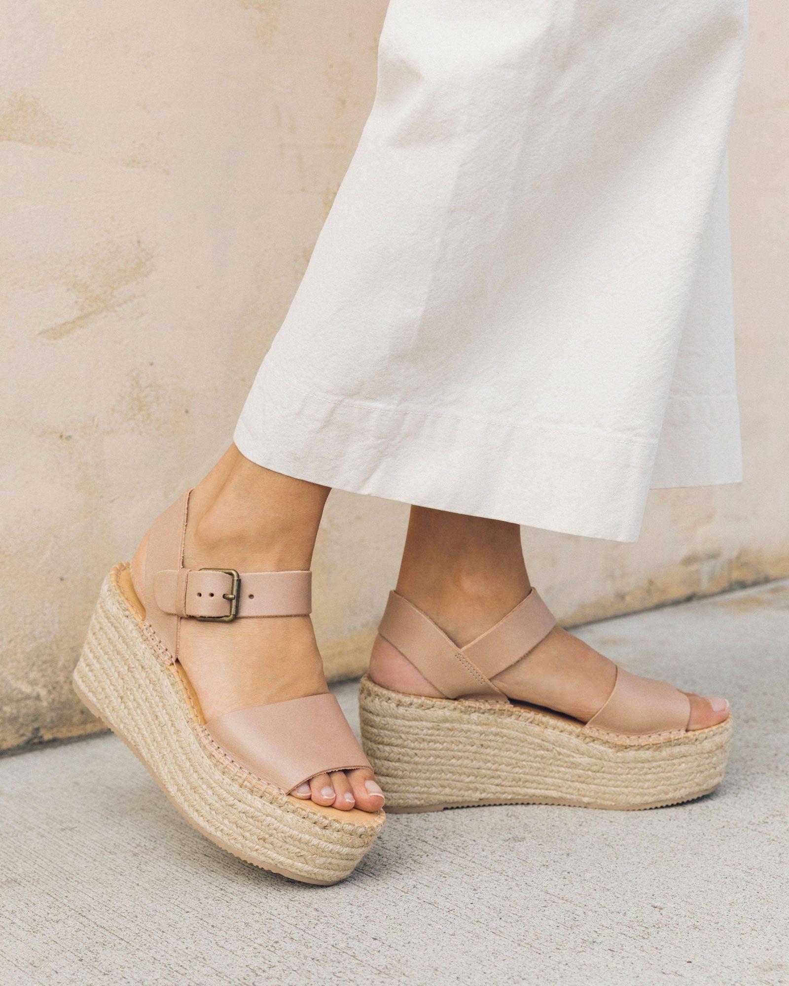 Soludos shoes, Platform wedge sandals