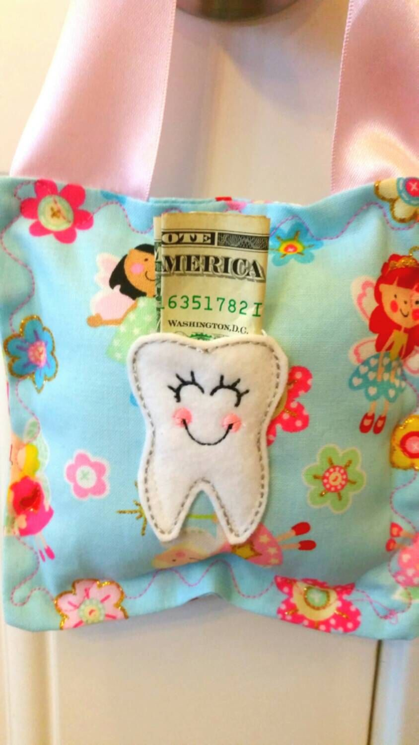 Tooth Fairy Pillow - Fairies by SunshineChloeCrafts on Etsy https://www.etsy.com/listing/253745939/tooth-fairy-pillow-fairies