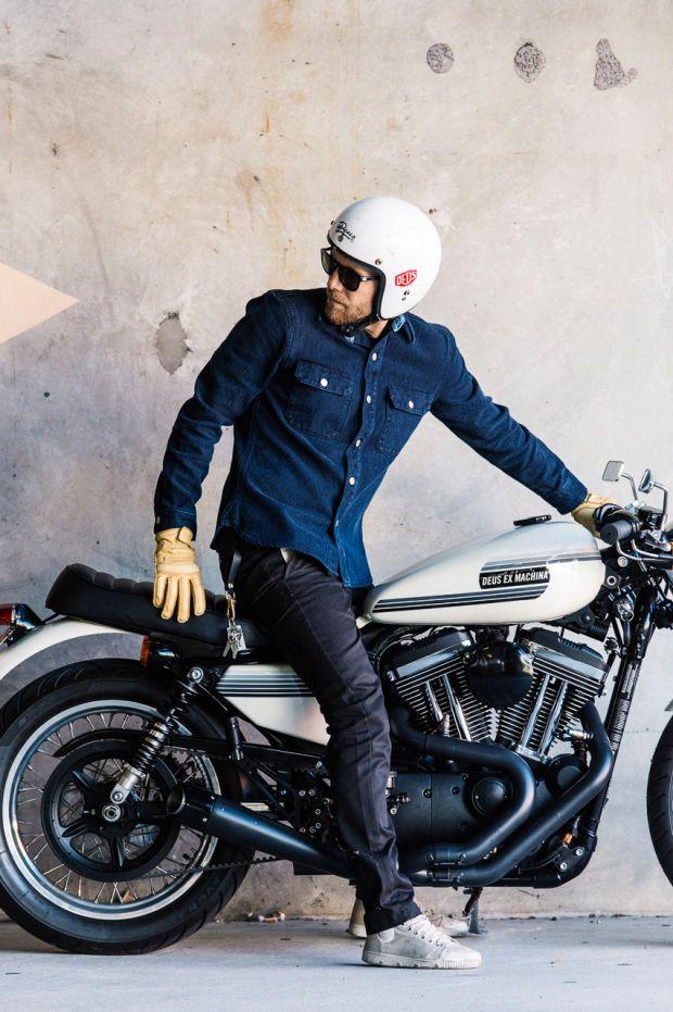Occhiali casco moto custom cafe racer aviatore harley davidson scrambler