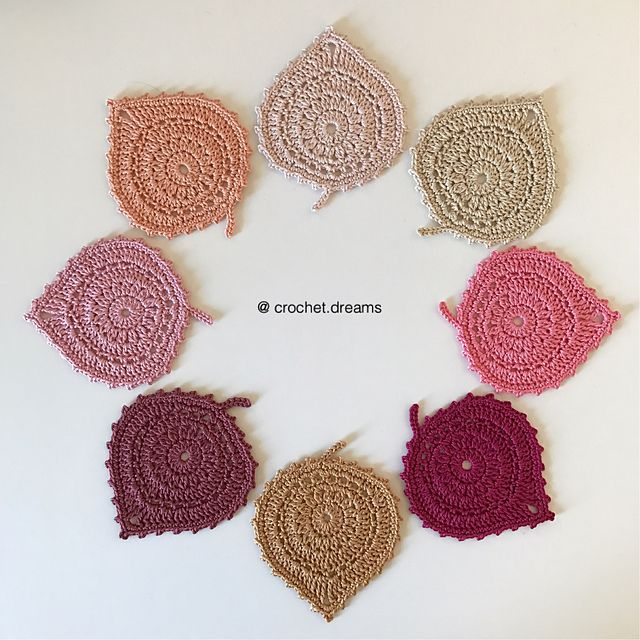 Ravelry: Leaf Coasters pattern by Katherine Laight   crafty ...