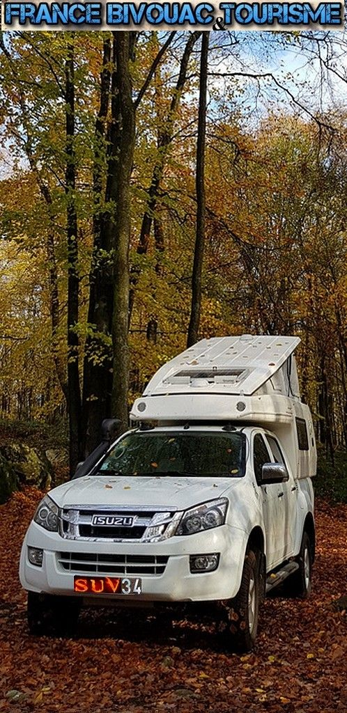 isuzu dmax pick up avec cellule camping car gazeil toit relevable camping car 4x4 france. Black Bedroom Furniture Sets. Home Design Ideas