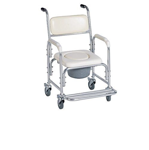 By Healthline Trading Lightweight Shower Chair Bedside Commode W