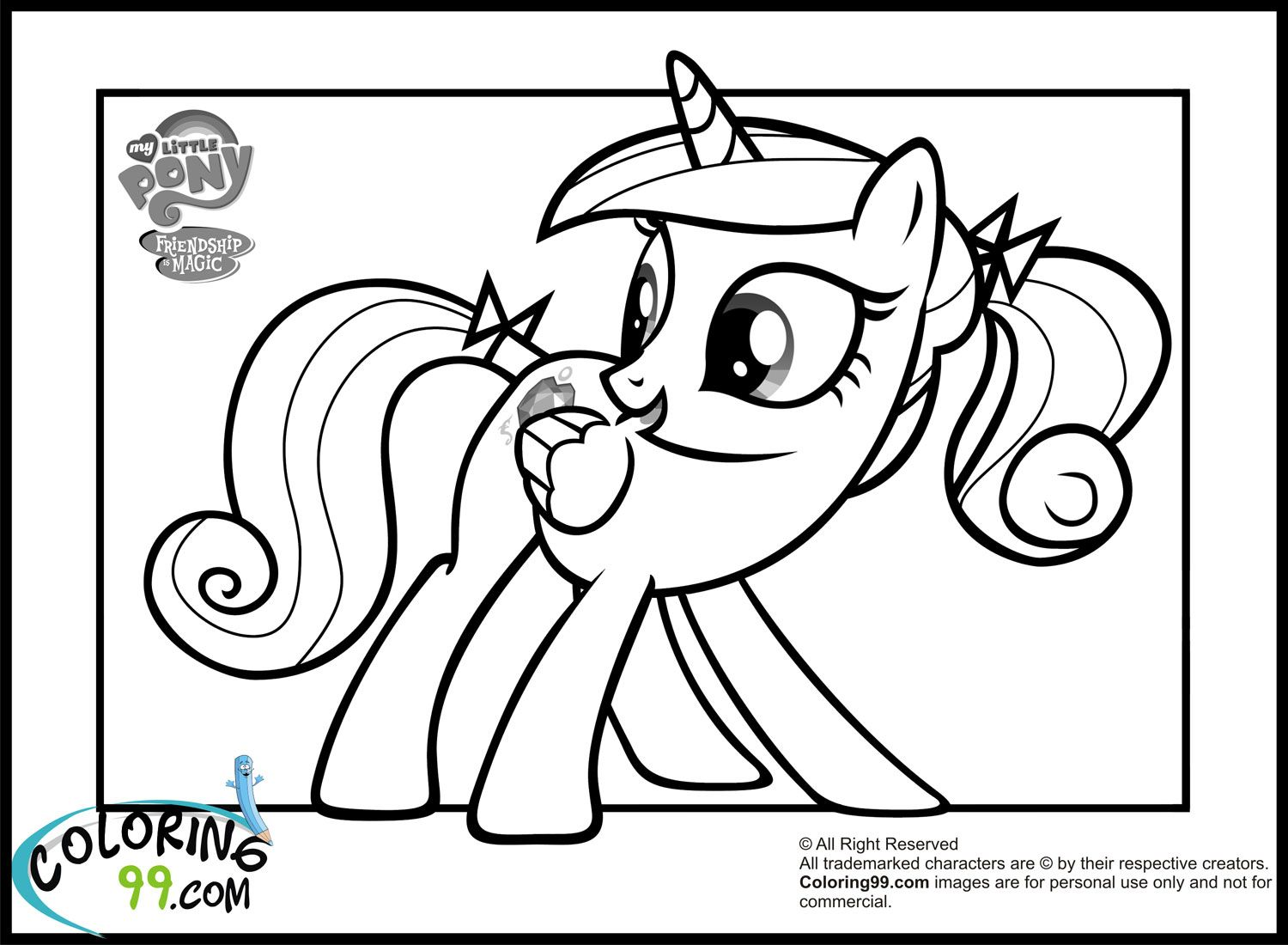 Little princess coloring pages - Free Little Princess Coloring Pages