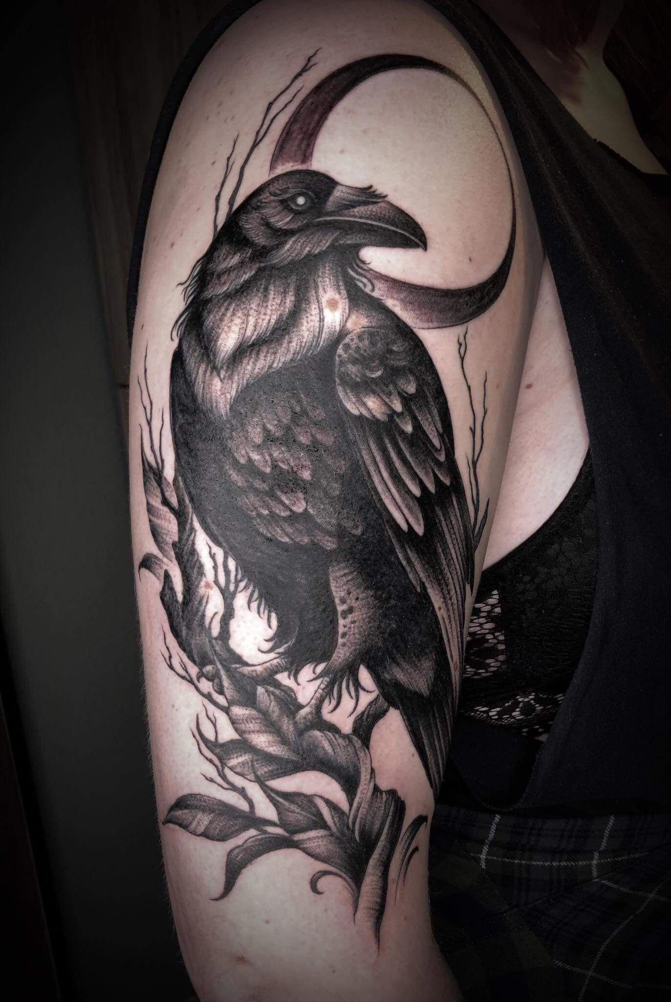 Pin di andrea novero su Corvi | Tatuaggi, Idee per tatuaggi