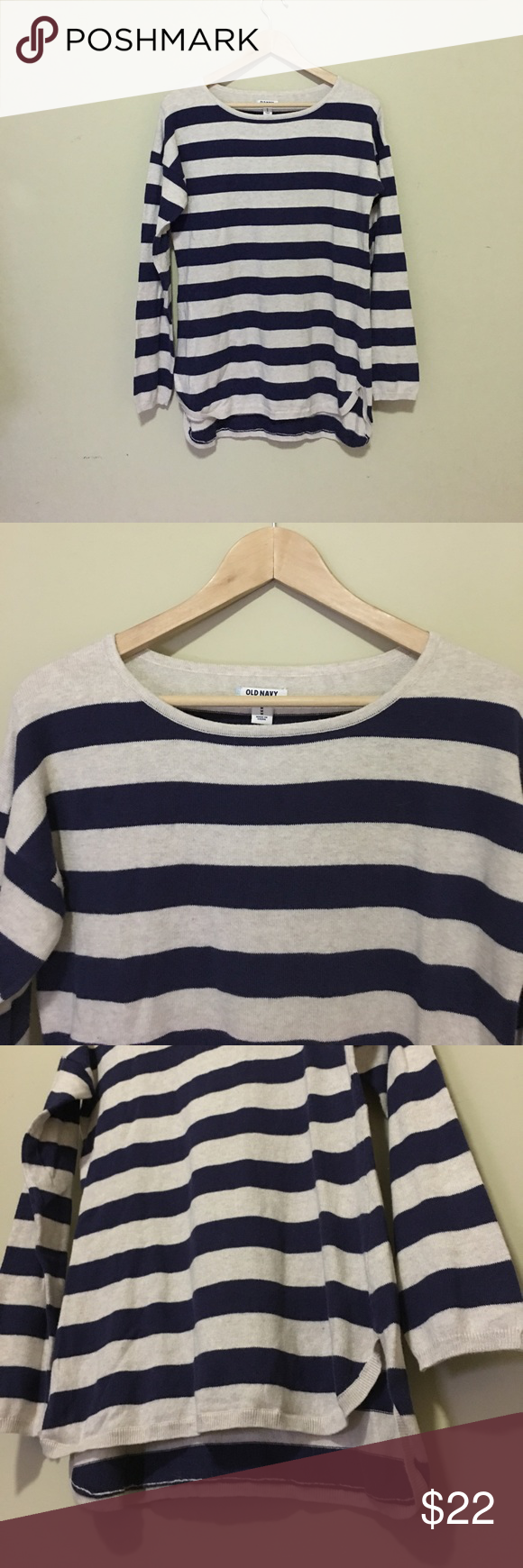Old Navy Striped Sweater | Navy sweaters, Acrylics and Old navy