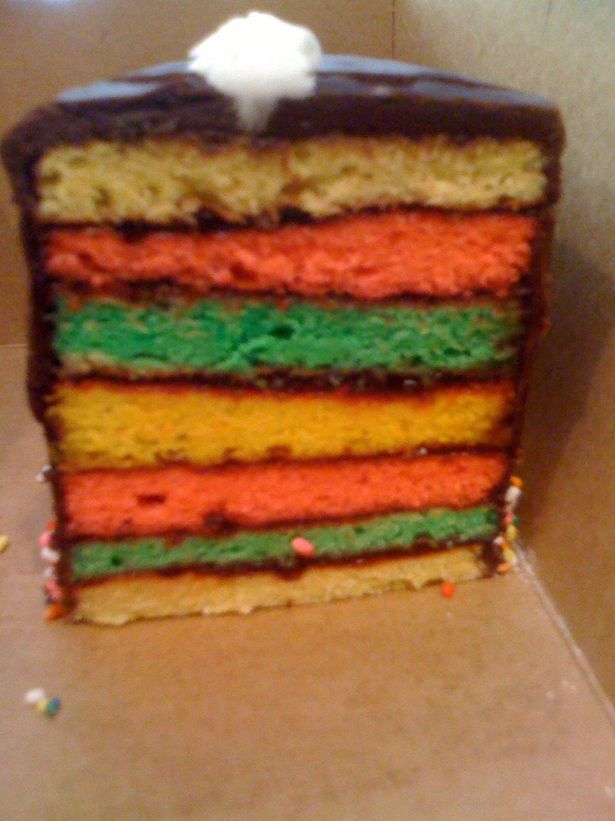 Rainbow Cake from Silbers Bakery Its A Baltimore Thing