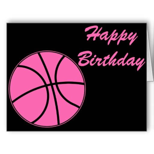 Basketball pink happy birthday card happy birthday pinterest basketball pink happy birthday card bookmarktalkfo Image collections