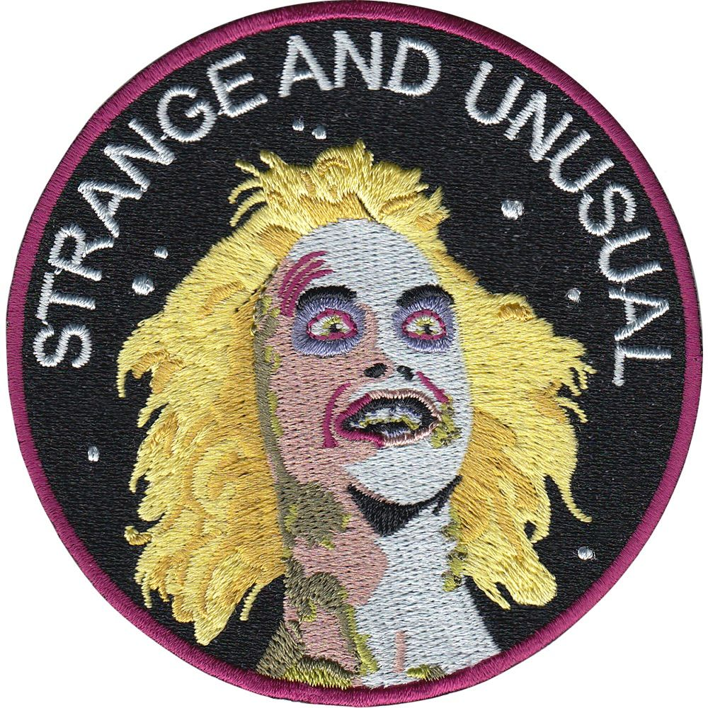 Strange And Unusual Is A 9 Cm Embroidered Patch With Merrowed Edge