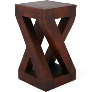 Modern Twist – Solid Acacia Wood – Side Table / Stool