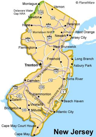 Atlantic City New Jersey Google Image Result For Http Www Planetware Com I Map Us New Jersey Map Jpg Jersey Atlantic City Trenton
