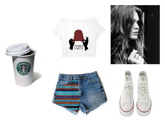 """""""Star"""" by thaisa-tcs ❤ liked on Polyvore featuring Converse"""