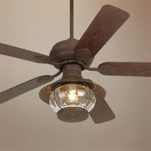 Rustic Ceiling Fan With Lantern Light