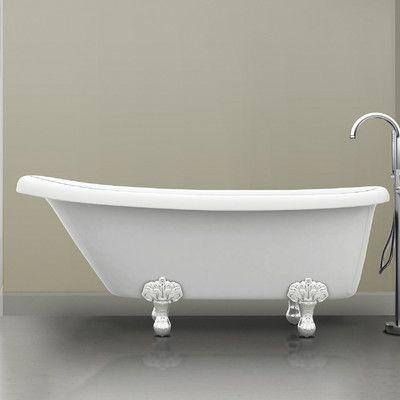 Ancona Monroe 67 X 26 3 Claw Foot Bathtub Products Clawfoot Bathtub Bathtub Faucet Parts