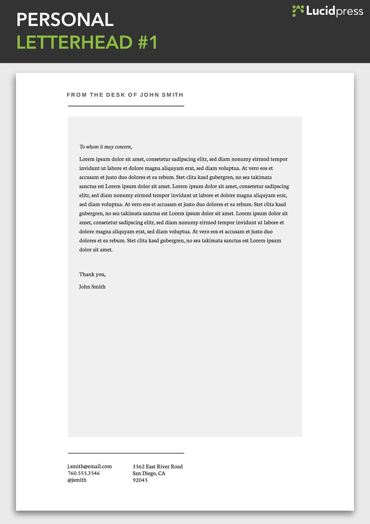 Letterhead Examples Letterhead Design Letterhead Template