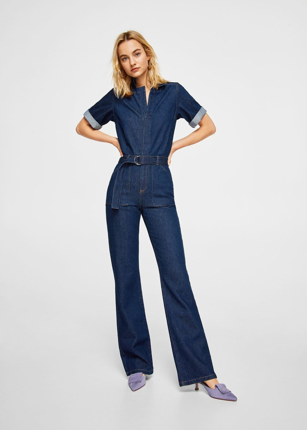 Belt En ノ 2019Fashionノ≧∀≦ Denim Jumpsuit Women cF1JluTK3