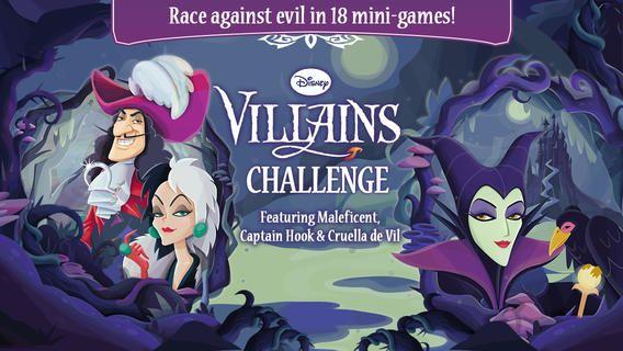 Disney Villains Challenge App, a free download from Disney