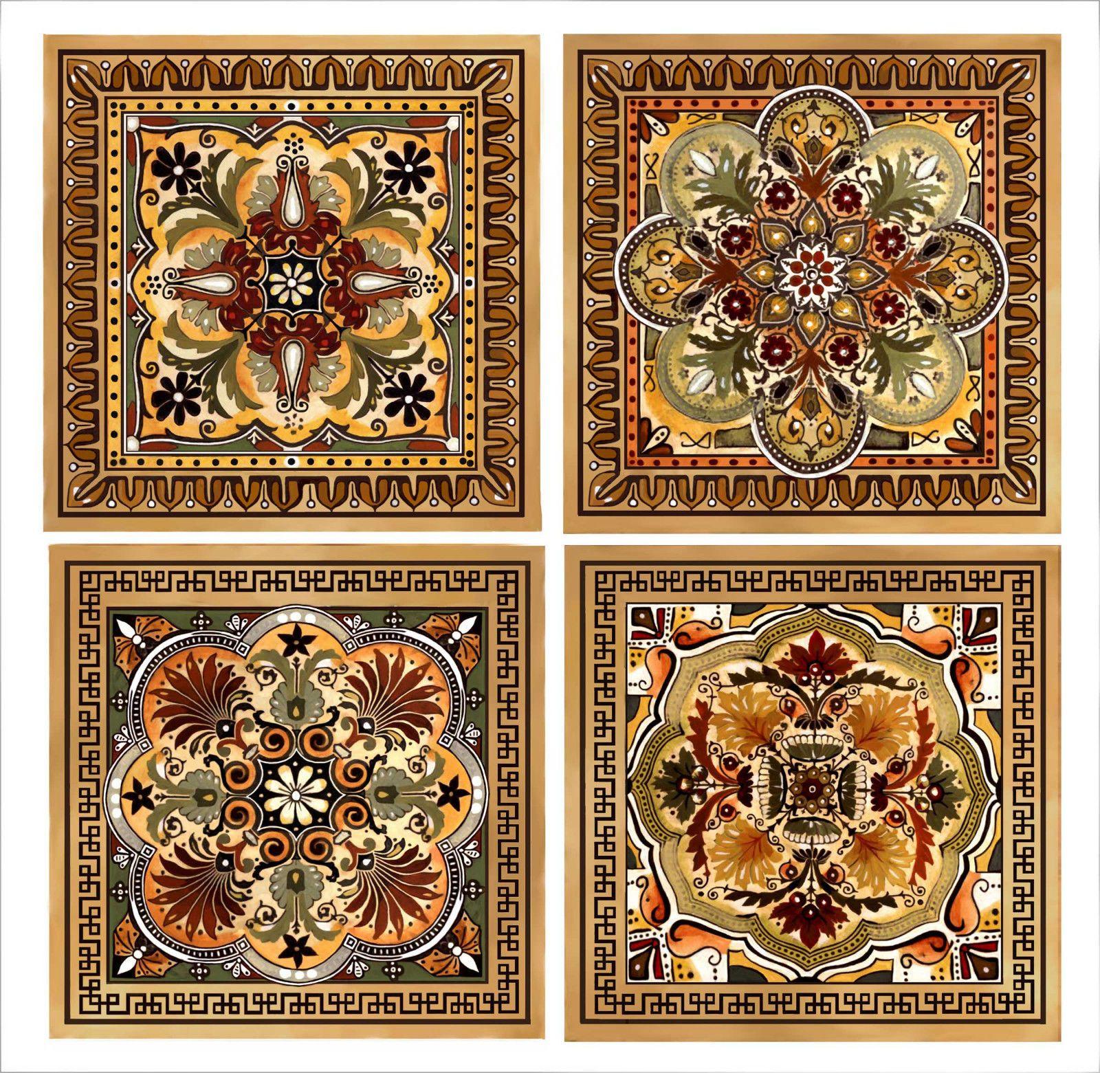 Italian Renaissanc Design Kitchen Backsplash Ceramic Custom Accent