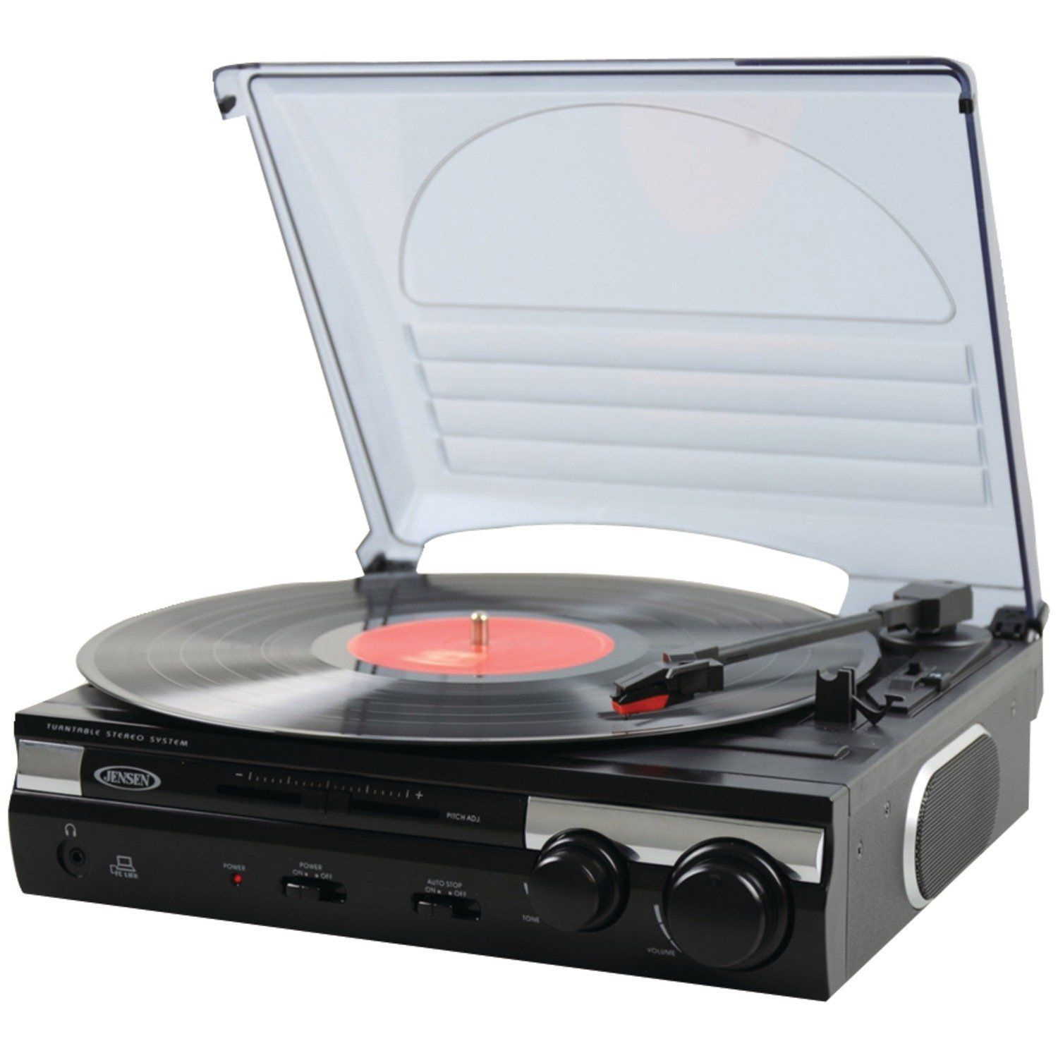 amazonsmile jensen jta 230 3 speed stereo turntable with built in