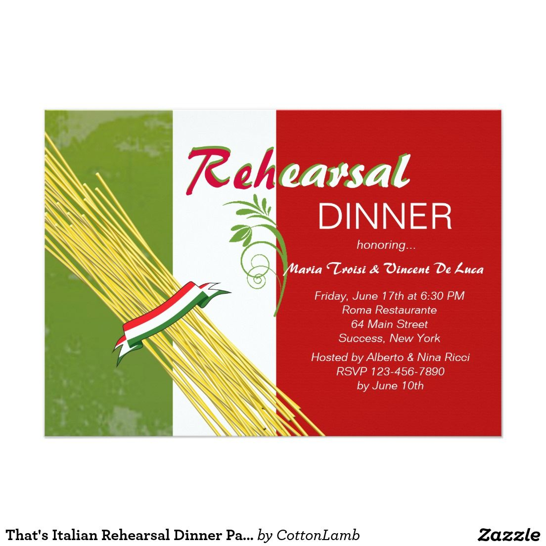 That\'s Italian Rehearsal Dinner Party Invitation | Starry Knights ...