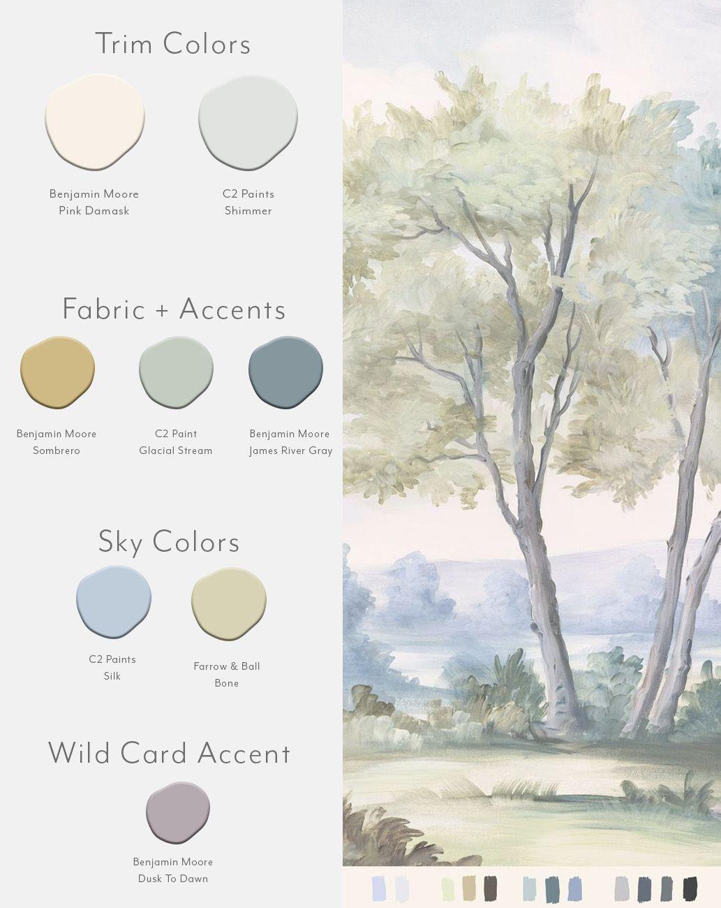 Calmsden True Sample Mural Wallpaper Favorite Paint Colors C2 Paints