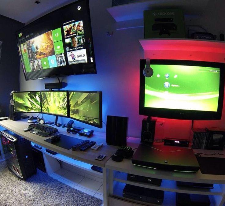 basement office setup 3. 1000+ Images About [Home] Office/Desk/Work Space × Battle Station Basement Office Setup 3 O