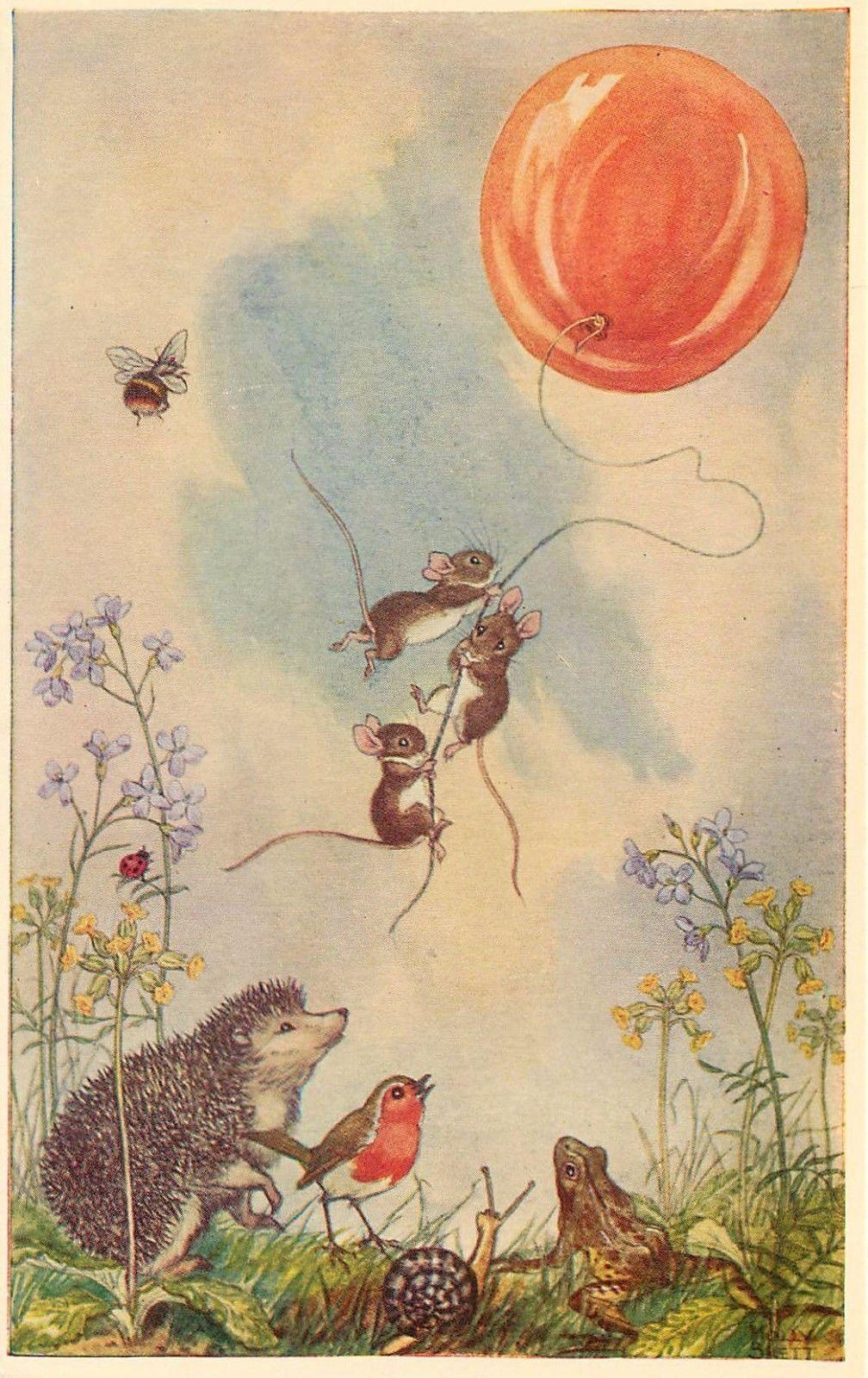 Medici Soc Postcard PK 314 The Balloon Goes Up A s Molly Brett Unposted | eBay