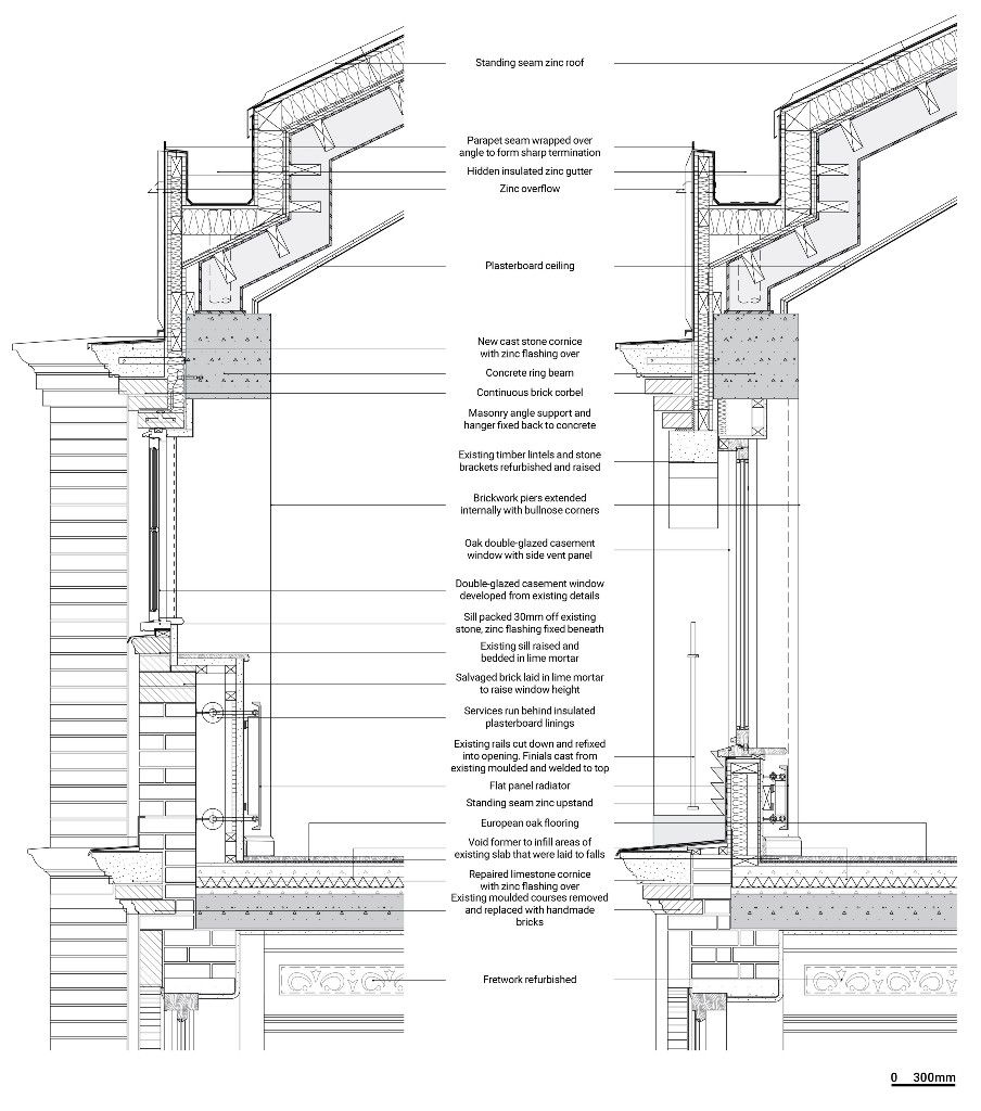 Pin By Pana Sanz On Architecture Details Construction Details Architecture Roof Architecture Architectural Section